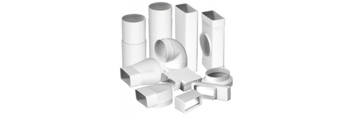 Plastmasas taisnstūra un apaļa sistēma